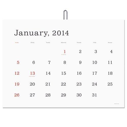 葛西薫さんのカレンダー
