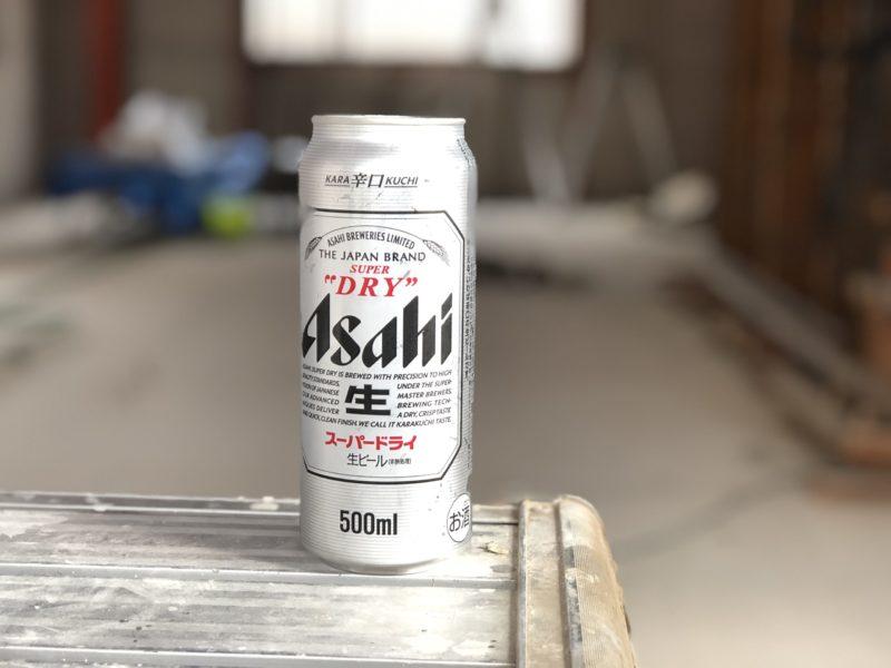 現場でのビール