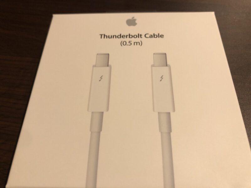 Apple Thunderboltケーブル (0.5 m)