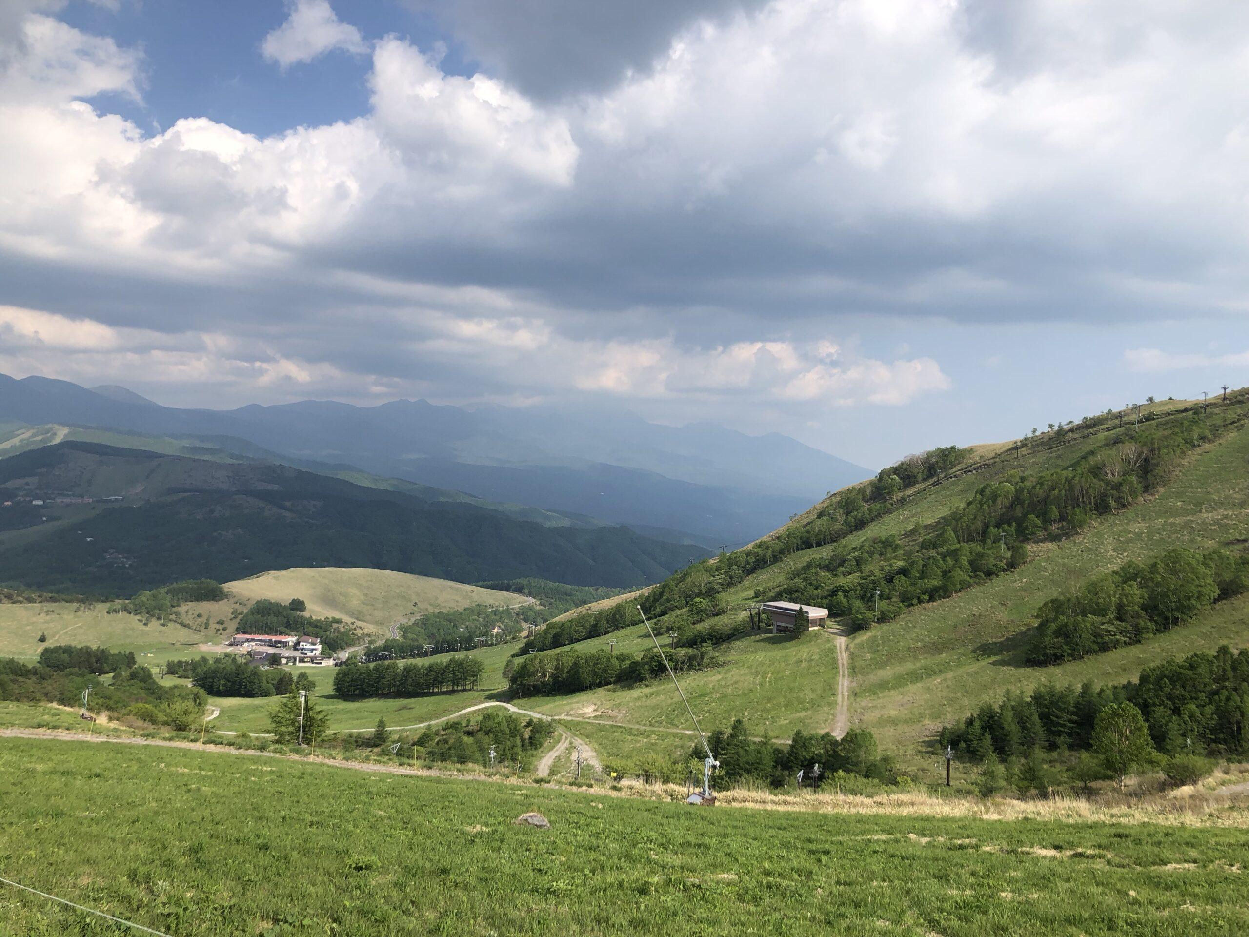 夏の車山高原スキー場